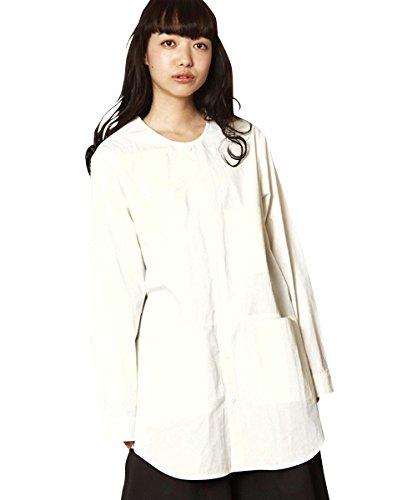 抗生物質プレビュー私たち(アンリラクシング) Unrelaxing UR-141W ノーカラーロングシャツ ノーカラーシャツ UR-141W S ホワイト UR-141W_WH01S001
