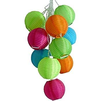 this item allsop home and garden soji solar string lights globe style led outdoor solar lanterns handmade with uv rated fabric - Outdoor Solar Lanterns