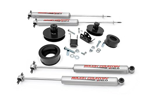 Rough Country - 658N2 - 2-inch Suspension Lift Kit w/ Premium N2.0 Shocks for Jeep: 97-06 Wrangler TJ 4WD, 04-06 Wrangler Unlimited LJ 4WD