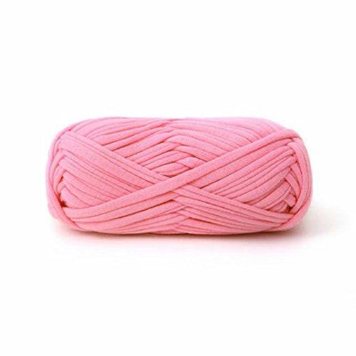 Tapestry Thread (Celine lin One Skein Soft Premium Fancy Cloth Yarn For Carpet&Basket Hand Crochet Yarn,Pink)