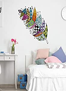 Full Color Wall Decal Mural Sticker Decor Art Feather American Naitive