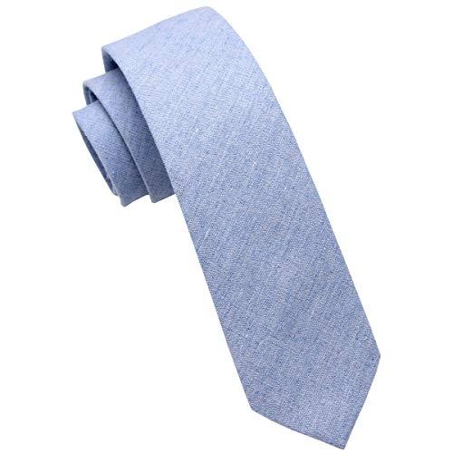 - Mumusung Men's Chambray Cotton Skinny Tie Necktie