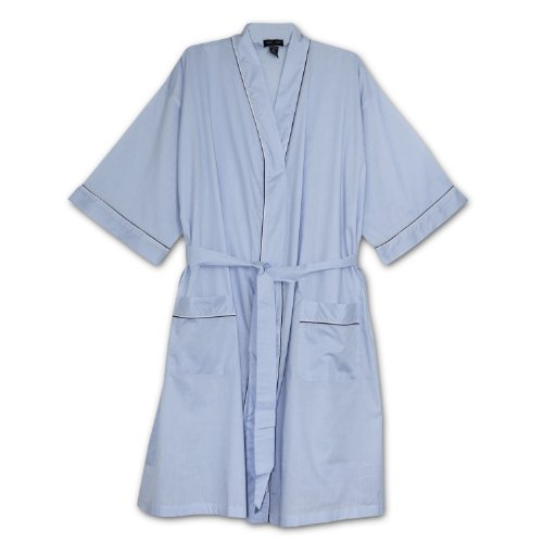 Top Foxfire Big Mens Light Weight Broadcloth Kimono Robe for sale