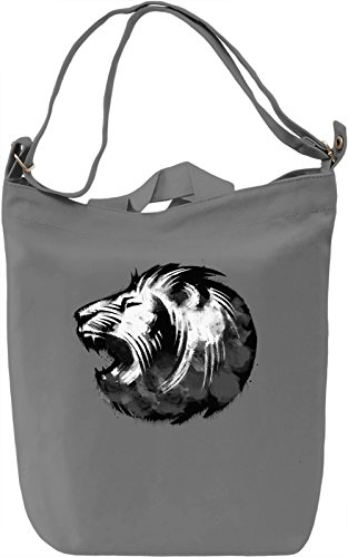 Lion Face Borsa Giornaliera Canvas Canvas Day Bag| 100% Premium Cotton Canvas| DTG Printing|