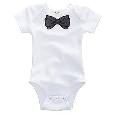 Owlivia Organic Cotton Baby Boy Girl Short Sleeve Bodysuit (Size 0-18 Months)