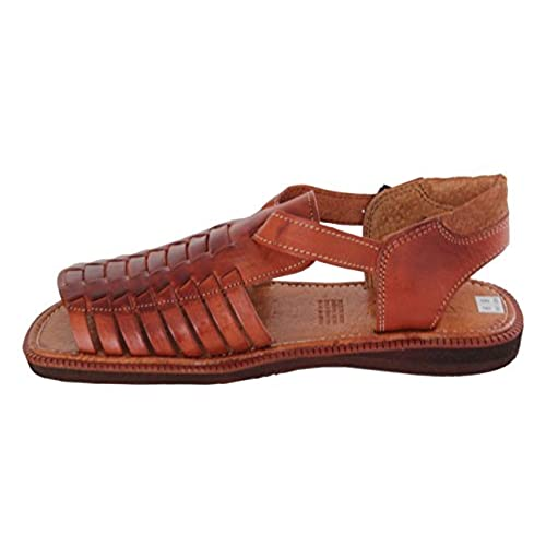 8aa1f5d5ae42 50%OFF Men s 451 Rustic Cognac All Real Leather Mexican Buckle Huaraches  Open Toe