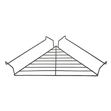LANDUM Metal Hanging Cubicle Corner Shelf Floating Cubicle Wall Organizer Display Rack Black