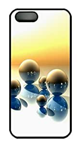 3D Marbles On Sunset PC Case Cover for iPhone 5 and iPhone 5s Black