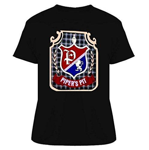 (Rowdy Roddy Piper Piper's Pit Wrestling T Shirt 2XL Black )