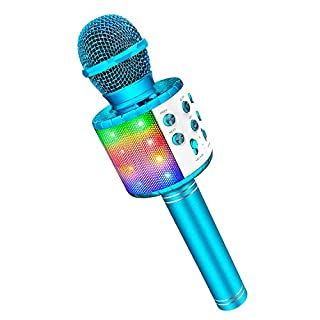 Microphone for Kids Singing, Gifts for 4-12 Year Old Girls Boys Magic Microphone Karaoke 2020 Microphone and Speaker for Kids Christmas Stocking Stuffers Toys for Kids Boys Blue
