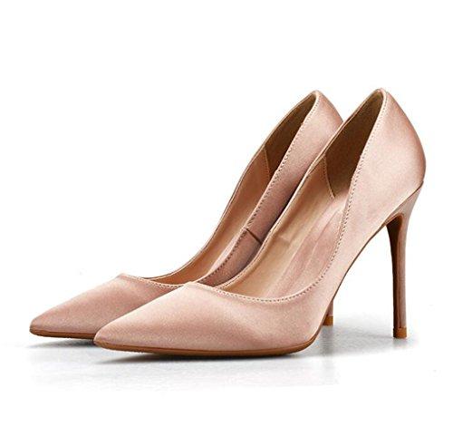 Zapatos Elegante Mujer con Tacon Alto Beige Zapatos Fiesta para vqvr6