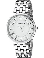 Anne Klein Womens AK/2701WTSV Easy To Read Dial Silver-Tone Bracelet Watch