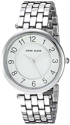 Anne Klein Women's AK/2701WTSV Easy To Read Dial Silver-Tone Bracelet Watch