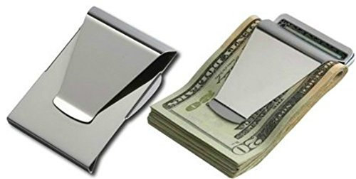 SZHOWORLD Stainless Steel Money Clip Double