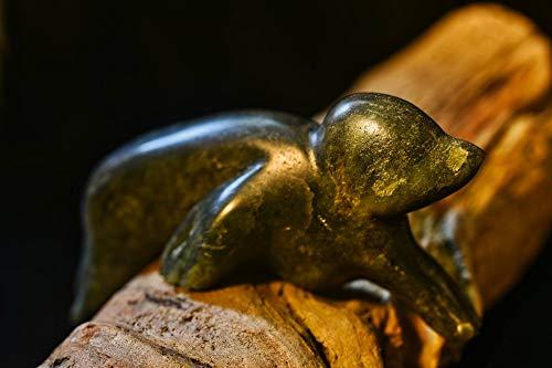 (Inuit Seal soapstone carving, Eskimo art, seal stone carved, alabaster, hand carved, stone sculpture, OOAK )