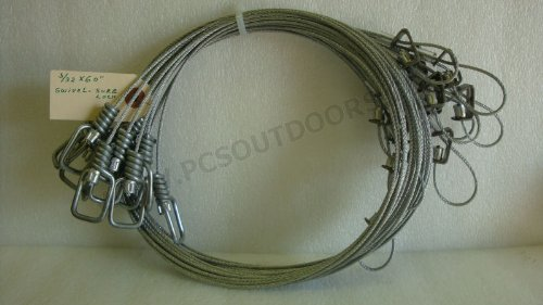 ausable-5-ft-3-32-coyote-fox-snare-with-sure-lock-wire-swivel-end-1-dozen
