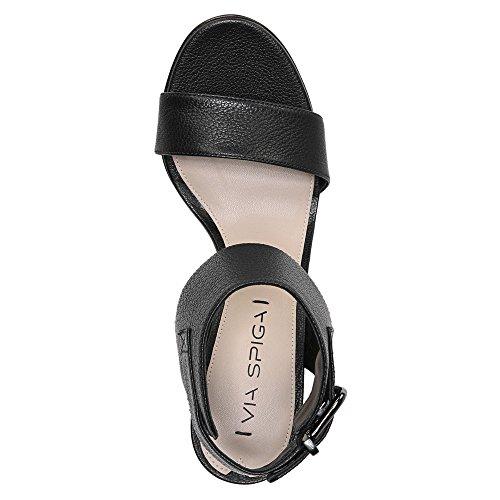 A través de Spiga Wiley de la mujer vestido sandalia Negro