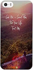 God Has A Great Plan For Your Life Trust Him Christian Quote Bible Verses Pattern Print High Quality Hard Plastic Cover Protector Sleeve Case For Apple For iphone 6 plus 5.5
