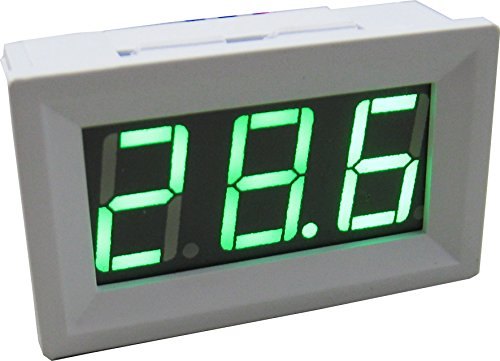 Yeeco -50-110 °C Degrees Celsius Digital Thermometer Car/Motor Temperature Panel Meter Temp Gauge Monitor Green Led Display with Waterproof B3950-10k Probe Sensor DC 12V White Shell (Digital Panel Mount Thermometer compare prices)