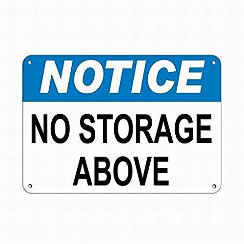 LUCY PARSONS Warning Sign Notice No Storage Above Business Sign Warehouse Signs Sign Street Sign -Safety 12x16 inch Tin Sign