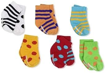 Trumpette Unisex-baby Newborn Bright Cheeritoes Sock Set, Multi, Small(0-12)