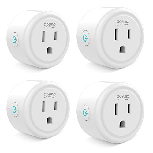 Smart plug, Gosund Mini Wifi Outlet Works With Alexa, Google Home & IFTTT, No Hub Required, Remote Control Your Home Appliances from Anywhere, ETL Certified,Only Supports 2.4GHz Network(4 Pieces)