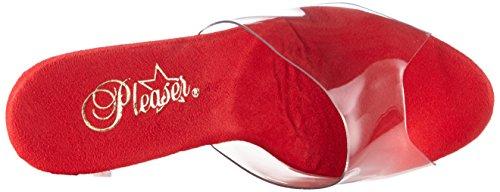 Pleaser Adore-701 - Sandalias Mujer Rojo (Rojo (Clr/Red Chrome))