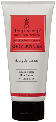 Deep Steep Body Butter, Passion Fruit Guava, 6 Ounce (Passion Fruit Shea Body Butter)