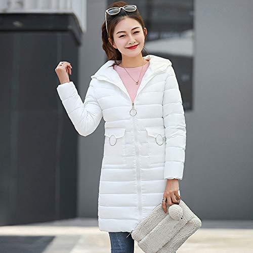 4 Bianco Giacche Capispalla S Burfly Cappotti Caldo ~ Da Slim 3xl Size Donna Solid Piumini Casual Fit Capispalla Moda Corta Donna Plus Inverno Piumino Per qRqg6Sxtw