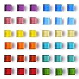 DIYSELF 36 pack fridge magnets for Whiteboard magnets mini...