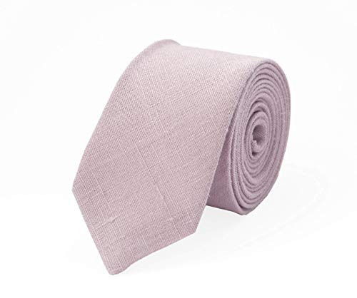 Dusty rose linen necktie for wedding and bow ties for men available with matching pocket square/dusty rose boys and kids pretied bow ties for ring bearer gift Bow Tie Ring Box