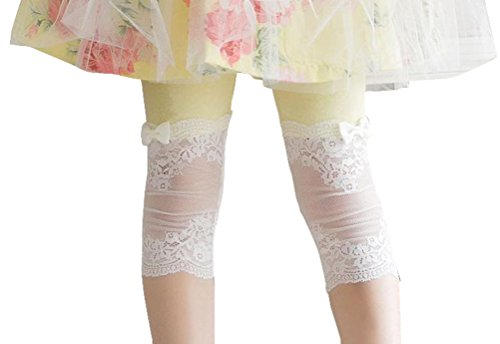 Summer Fairy Lace Wings - Toddlers Baby Little Girls' Solid Color Cotton Lace Joint Letting with Bowtie