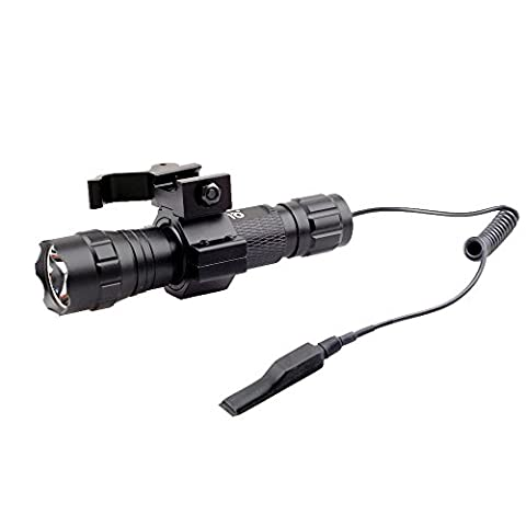 CISNO 1000 Lumens Tactical Flashlight Light With Mount and Pressure Switch For Picatinny Quad Rail - Ar 15 Tactical Flashlights