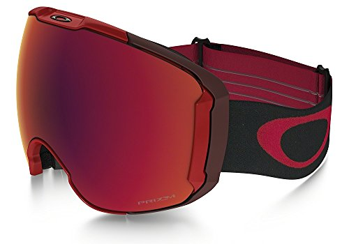Oakley Men's Airbrake XL Snow Goggles, Obsessive Lines Red, Prizm Torch Iridium, Large ()