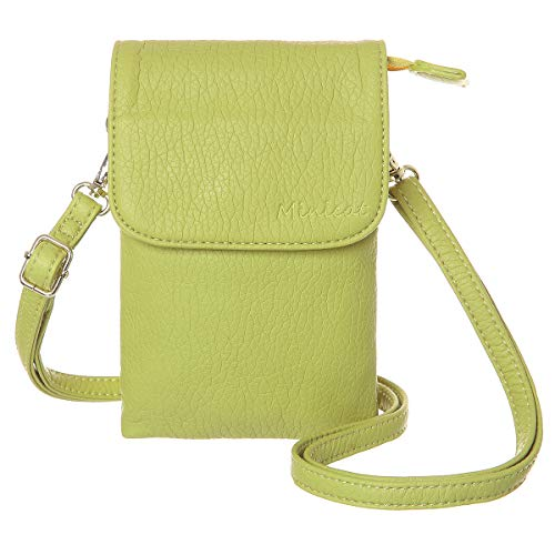(MINICAT Roomy Pockets Series Small Crossbody Bags Cell Phone Purse Wallet For Women(Light Green))