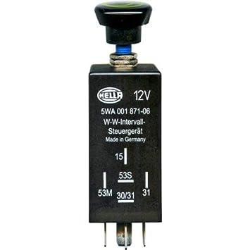 HELLA 5WA 001 871-061 Regulador, intervalo del limpiaparabrisas: Amazon.es: Coche y moto