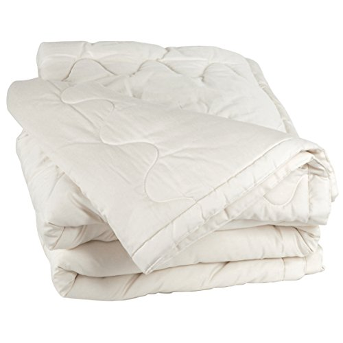 LIFEKIND Certified Organic Wool Comforter for All-seasons - Twin (Ivory)