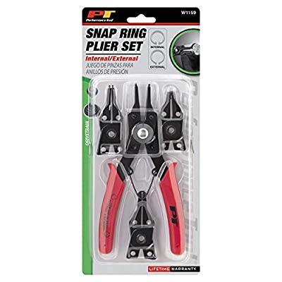 Performance Tool W1159 5-Piece Snap Ring Plier Set: Automotive
