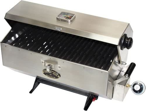 Large Stainless Steel Marine <span>Pontoon Boat Grill</span> (Bbq Mount) [Dickinson Marine] Picture