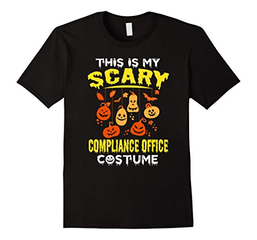 Office Halloween Costumes (Mens This is my Scary Compliance Office Costume Halloween shirt XL Black)