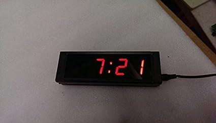 Amazoncom LED Digital Wall Clock 1 High Character 4 Digits LED