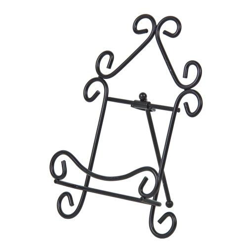 Folding Metal Black Scroll Easel (7.5
