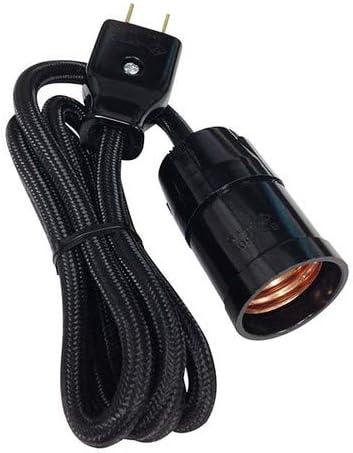 オーム電機(Ohm Electric) コード付ソケット(コンセント-E26/黒) HS-L26SP/K