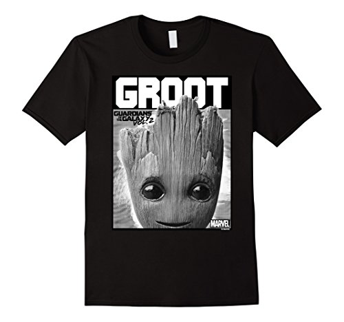 Men's Marvel Groot Guardians of Galaxy 2 Innocent Graphic T-Shirt Large Black