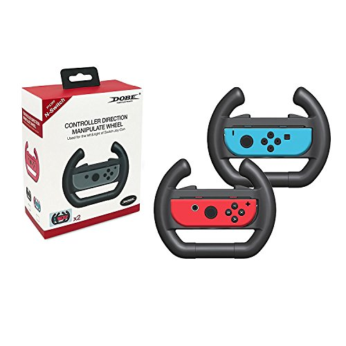 SUNKY - Nintendo Switch Joy-Con Charger, Dual Joy-Con Controller Steering Wheel Charging Dock Stand USB Fast Charging Holder Mount for Mariokart