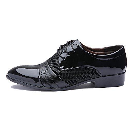 Zapatos Cordones Planos negro BlivenerCasual hombre con 78qUd8xvw