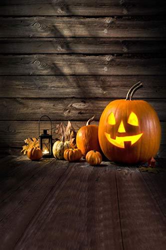 Vacally Halloween Pumpkin Lantern Ghost Backdrops Vinyl 3x5FT Lantern Background Photography Studio Prop Backdrop Background Photo Picture Decor (M) -