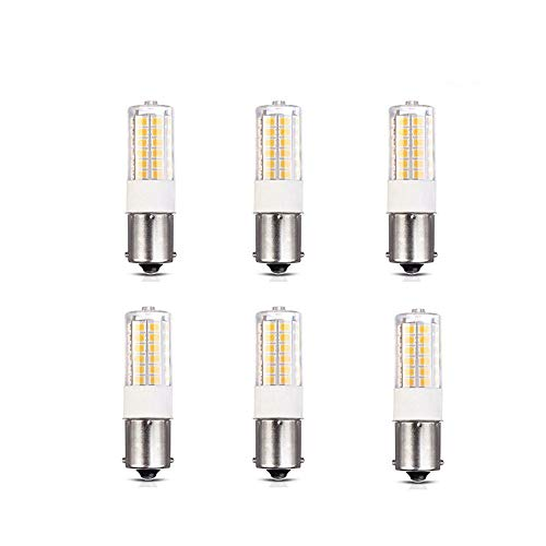 Makergroup 1156 1141 S8 LED Light Bulbs BA15S SC Bayonet Base Super Bright RV Lights for Camper Trailer Boat Motorcycle Dome Porch Sign Navigation Lights Warm White 12V-30VDC 6-Pack