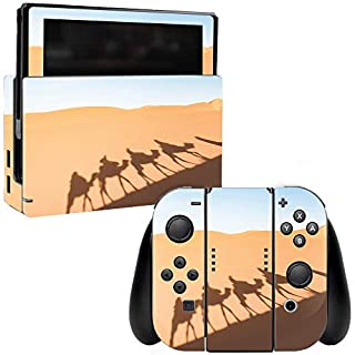 MightySkins Skin Compatible with Nintendo Switch - Desert Shadows | Protective, Durable, and Unique Vinyl Decal wrap Cover | Easy to Apply, Remove, and Change Styles | Made in The USA