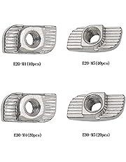 YQ 120 piezas 2020/3030 Serie T Tuercas M4 M5 Rosca T-Ranura Tuerca Perfil de aluminio Ranura de extrusión Estándar europeo, Tuercas Recubiertas de Zinc